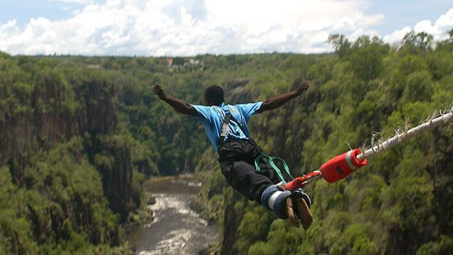 Bungee jump from Victoria falls